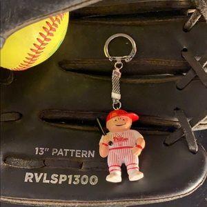 Vintage 1986 MLB Phillies Lil Sports Brat Keychain